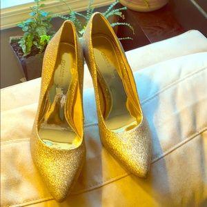 Gianni Bini Gold High Heels